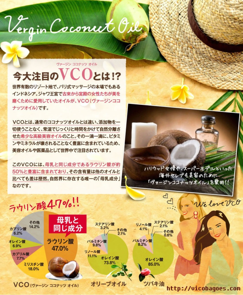 vergin coconut oil japan